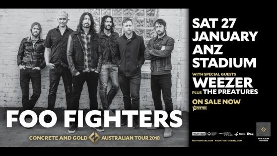 THERE GOES OUR HEROES . . . FOO FIGHTERS READY TO LIGHT UP ANZ STADIUM THIS SATURDAY