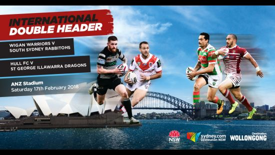 WIGAN AND HULL READY TO BRING BRITISH RUGBY LEAGUE ATMOSPHERE TO NSW WITH MATCHES AT WIN STADIUM AND
