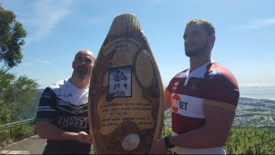 THE STUNNING SHIELD UP FOR GRABS AS SUPER LEAGUE CLUBS DO BATTLE IN WOLLONGONG NSW