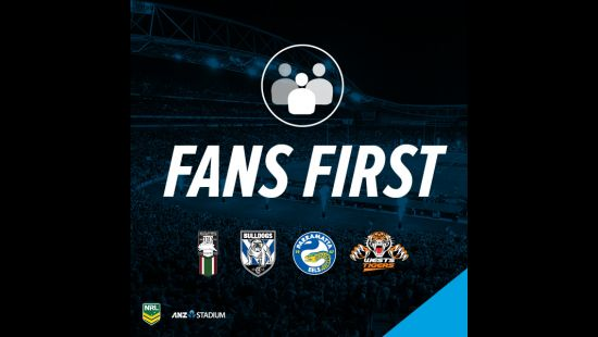 FANS FIRST: GAME-CHANGING NRL CLUB INITIATIVES TO DEBUT AT ANZ STADIUM THIS SATURDAY