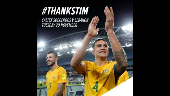 CALTEX SOCCEROOS GREAT TIM CAHILL TO PULL ON THE GREEN AND GOLD ONE LAST TIME IN FAREWELL MATCH AGAI