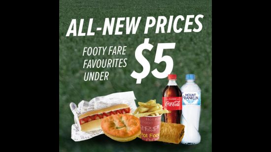 FANS WIN WITH ALL-NEW FOOD AND BEVERAGE PRICES AT ANZ STADIUM