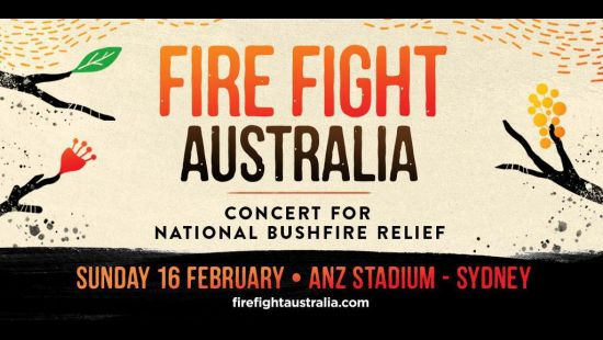 FANS CAN TRAVEL FOR FREE TO FIRE FIGHT AUSTRALIA CONCERT FOR NATIONAL BUSHFIRE RELIEF