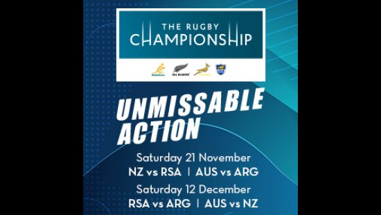 2020 RUGBY CHAMPIONSHIP TEST MATCH DOUBLE-HEADERS CONFIRMED FOR ANZ STADIUM