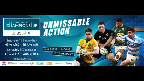 Bankwest Stadium to host two Test double-headers for 2020 Rugby Championship