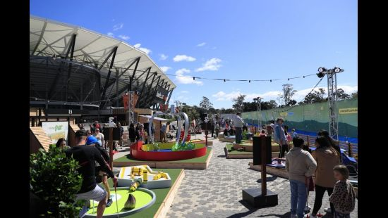 Pixar Putt hits Bankwest Stadium for first day of family fun
