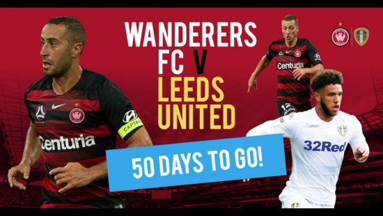 50 day countdown begins for Wanderers v Leeds at Bankwest Stadium