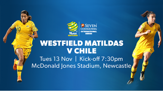 Westfield Matildas to play Chile in Australia this November