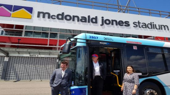 Dedicated transport service for all Newcastle Knights games at McDonald Jones Stadium in 2019