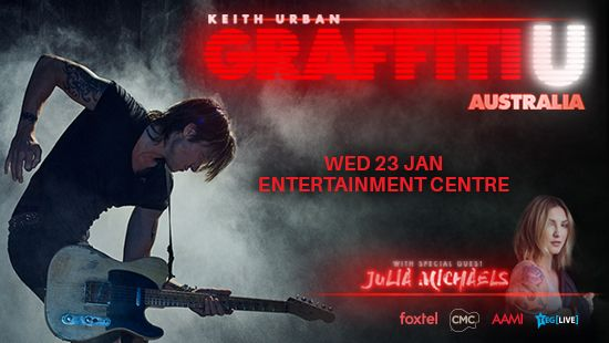 Keith Urban's 'GRAFFITI U WORLD TOUR AUSTRALIA' will commence in Newcastle