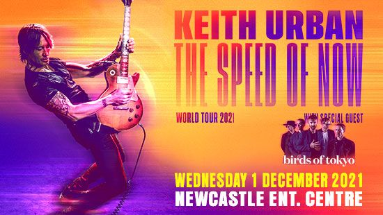 Keith Urban returns to the Newcastle Entertainment Centre on 1 December 2021!