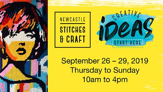 Pre-register for the Newcastle Stitches & Craft Show to receive your FREE Entry Ticket!