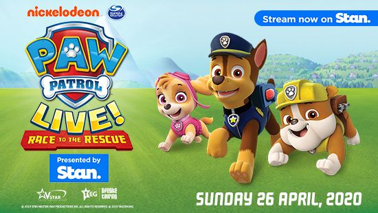 "PAW Patrol Live! ""Race to the Rescue"" to commence 2020 tour in Newcastle on April 26!"