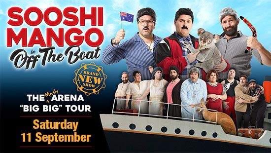 Sooshi Mango Off The Boat Tour is making a stop at the Newcastle Entertainment Centre