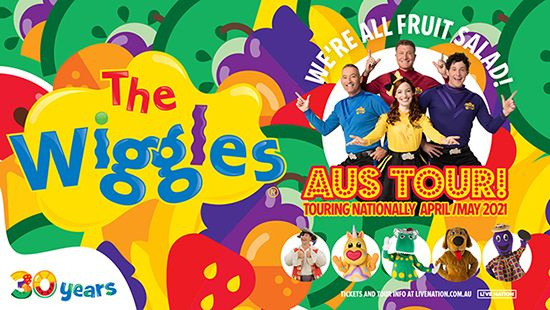 THE WIGGLES announce 'We're All Fruit Salad Australia Tour!' for 2021
