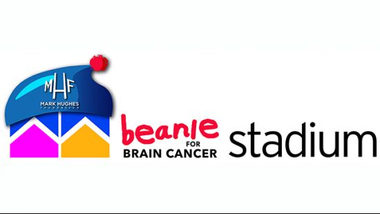 Giant beanie for brain cancer at McDonald Jones Stadium