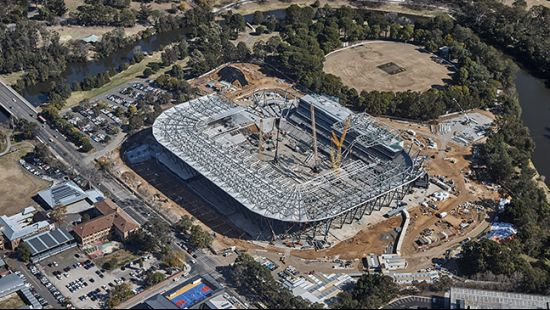 Countdown on as Western Sydney's future home of sport takes shape