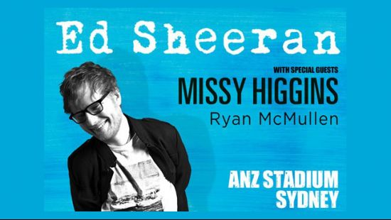 Global superstar Ed Sheeran set for three massive shows at ANZ Stadium in March