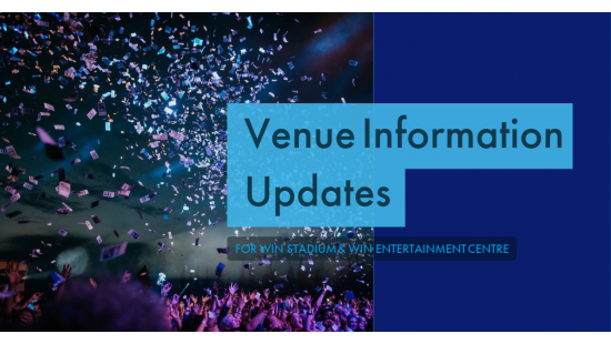 WIN SPORTS AND ENTERTAINMENT CENTRES VENUE UPDATE